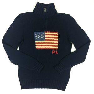 Polo Ralph Lauren 14-16 Pullover Sweater 1/4 Zip